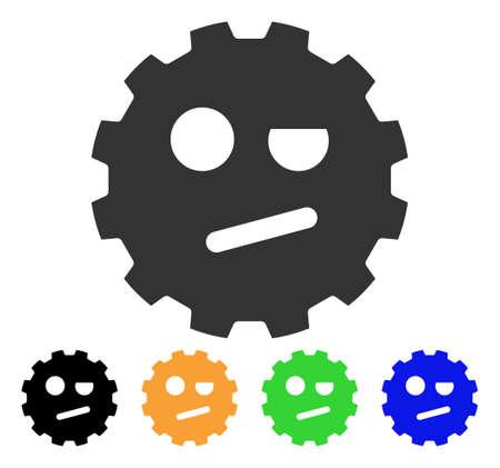Negation Smiley Gear icon. Ilustração