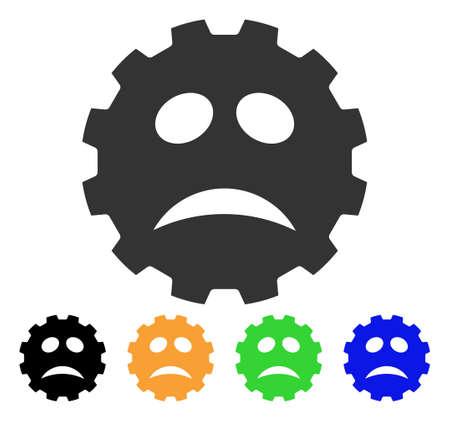 Problem Smiley Gear icon.