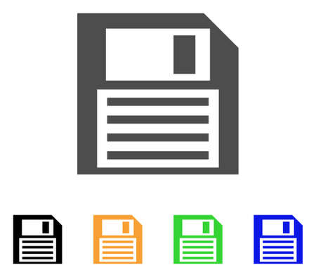 Save Floppy icon. Vector illustration style is a flat iconic save floppy symbol with black, grey, green, blue, yellow color versions. Designed for web and software interfaces. Çizim