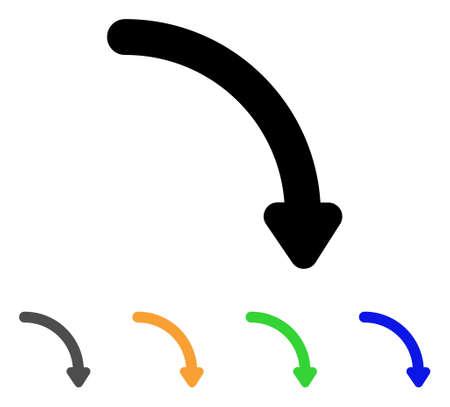 Rotate right icon. Illustration