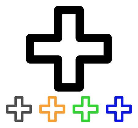 pharmacy symbol: Plus icon.
