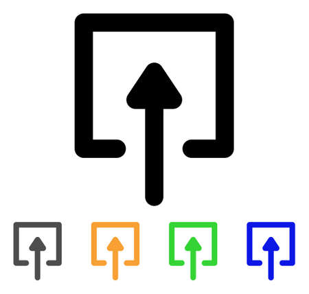 Upload icon. Illustration