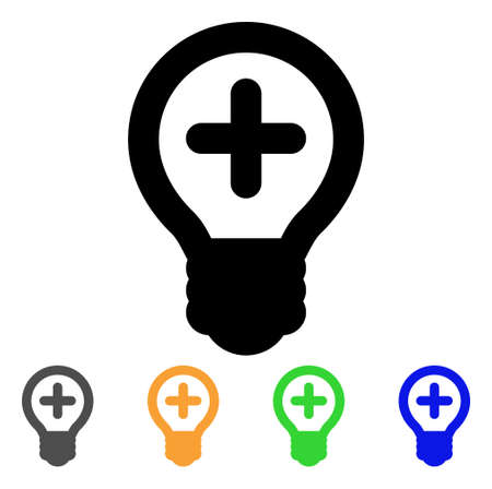 new addition: Medical bulb icon. Illustration