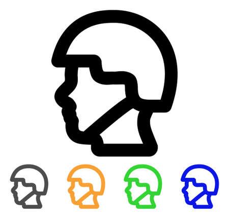 combatant: Soldier head icon.