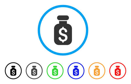 pharmacy symbol: Business Remedy icon. Vector illustration style is a flat iconic business remedy grey rounded symbol inside light blue circle with black, gray, green, blue, red, orange color versions.