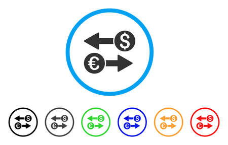 Currency Transfers icon. Illustration