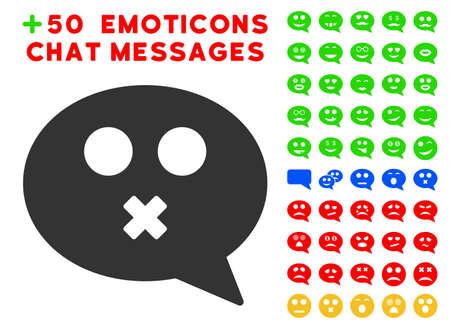 muet message smiley pictogramme avec bonus alcool icône . vector illustration style est des symboles emblématiques plates pour l & # 39 ; application web icône de l & # 39 ; application utilisateur