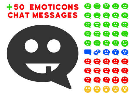 Toothless Smiley Message Pictograph With Bonus Avatar Symbols