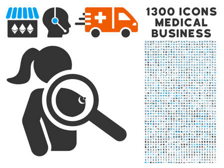 Find Prostitute grey vector icon with 1300 doctor business symbols. Set style is flat bicolor light blue and gray pictograms. Illustration
