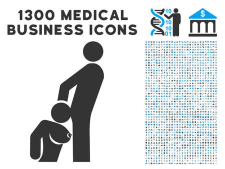Oral Sex Persons grey vector icon with 1300 healthcare commercial icons. Clipart style is flat bicolor light blue and gray pictograms. Ilustração