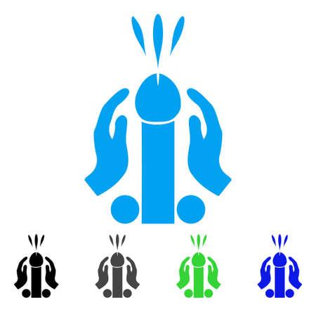 Blowjob Ejaculation icon. Vector illustration style is a flat iconic blowjob ejaculation symbol with black, grey, green, blue color versions. Designed for web and software interfaces. Illustration