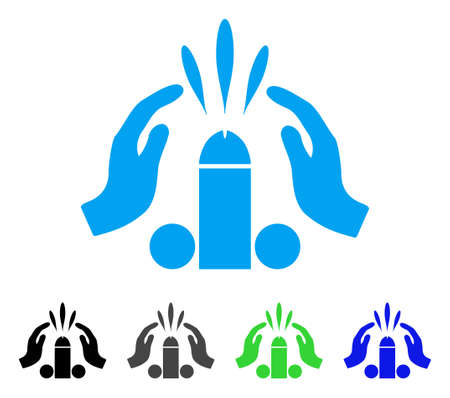 Blowjob Ejaculation icon. Vector illustration style is a flat iconic blowjob ejaculation symbol with black, gray, green, blue color versions. Designed for web and software interfaces.