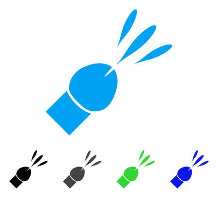 Ejaculation icon. Vector illustration style is a flat iconic ejaculation symbol with black, gray, green, blue color versions. Designed for web and software interfaces.