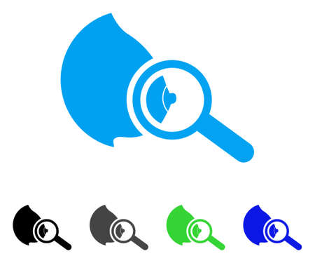 Explore Breast icon. Vector illustration style is a flat iconic explore breast symbol with black, grey, green, blue color variants. Designed for web and software interfaces.