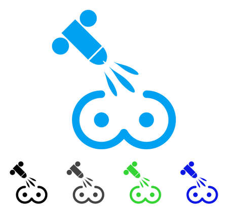 Female Tits Sperm Ejaculation icon. Vector illustration style is a flat iconic female tits sperm ejaculation symbol with black, gray, green, blue color versions.