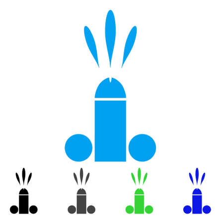 Sperm Ejaculation icon. Vector illustration style is a flat iconic sperm ejaculation symbol with black, gray, green, blue color versions. Designed for web and software interfaces. Illustration