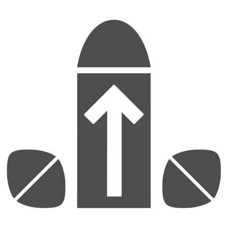 Penis Enlargement Tablets vector icon. Style is flat graphic grey symbol.
