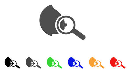 Explore Breast icon. Vector illustration style is a flat iconic explore breast symbol with black, grey, green, blue, red, orange color variants. Designed for web and software interfaces. Иллюстрация
