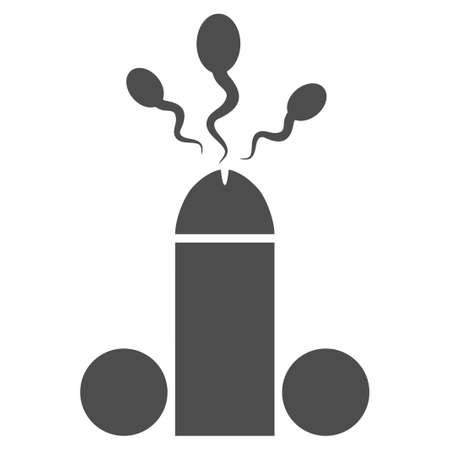 Sperm Ejaculation vector icon. Style is flat graphic grey symbol.