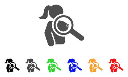 Find Prostitute icon. Vector illustration style is a flat iconic find prostitute symbol with black, grey, green, blue, red, orange color variants. Designed for web and software interfaces.