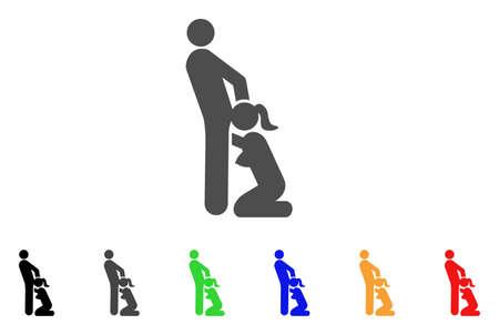 Icono de personas sexuales orales. El estilo de la ilustración del vector es un símbolo icónico plano de las personas del sexo oral con variantes del color negro, gris, verde, azul, rojo, anaranjado. Diseñado para interfaces web y de software. Foto de archivo - 85906356