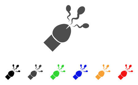 Sperm Ejaculation icon. Vector illustration style is a flat iconic sperm ejaculation symbol with black, gray, green, blue, red, orange color additional versions.