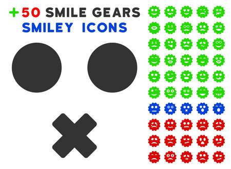 Icône sourire muet avec pictogrammes d'humeur bonus. Style d'illustration vectorielle est plats éléments emblématiques de la conception web, des interfaces utilisateur app Vecteurs