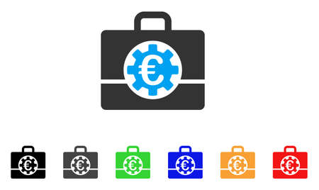 Euro Bank Case icon. Illustration