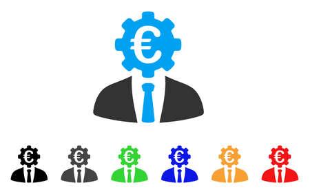 Euro Banker icon. Stock Vector - 85981067
