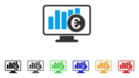 monitor: Euro Stock Market Monitoring icon.