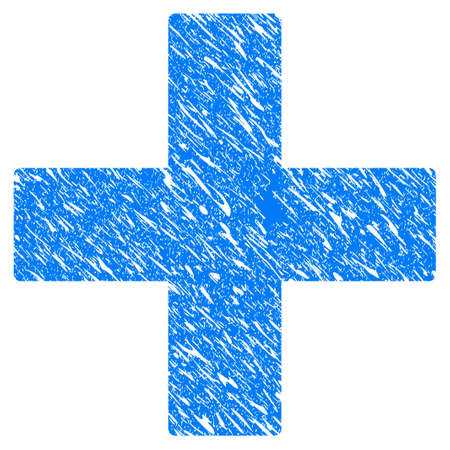 pharmacy symbol: Grunge Add Math Operation icon with grunge design and dust texture. Illustration