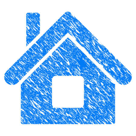 Home icon with grunge design
