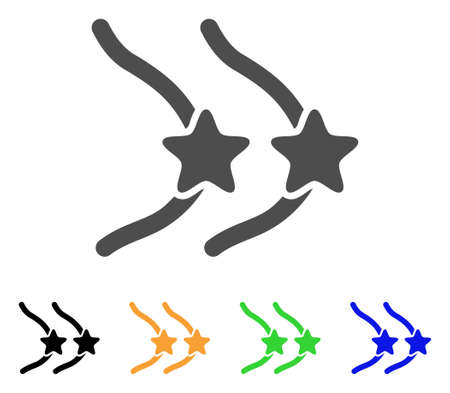 Female Breast Censorship Stars icon. Vector illustration style is a flat iconic female breast censorship stars symbol with black, gray, green, blue, yellow color variants. Иллюстрация