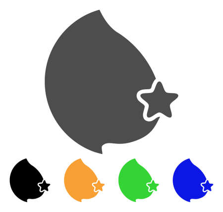 Censored Female Breast icon. Vector illustration style is a flat iconic censored female breast symbol with black, grey, green, blue, yellow color versions. Designed for web and software interfaces.