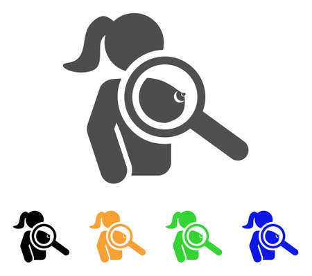 Find Naked Woman icon. Vector illustration style is a flat iconic find naked woman symbol with black, gray, green, blue, yellow color variants. Designed for web and software interfaces.
