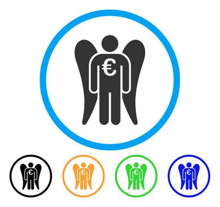 investor: Euro angel investor icon.