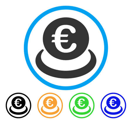 storage: Euro Deposit icon Illustration