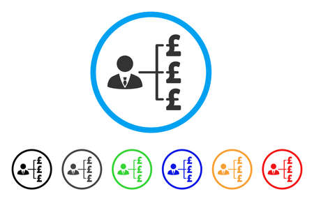 cash: Banker Pound Payments rounded icon. Illustration