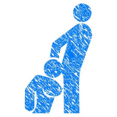 Schmutz-Oralsex-Personenikone mit Schmutzdesign und Staubbeschaffenheit. Unreines Vektor-Oralsex-Personenpiktogramm für Gummidichtung stempeln Nachahmungen und Wasserzeichen. Entwurf Zeichen Symbol.