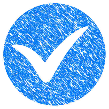 seal of approval: Grunge Apply icon with grunge design and dirty texture. Unclean raster blue apply pictogram for rubber seal stamp imitations and watermarks. Draft sign symbol.
