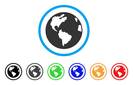 web browser: Planet Earth rounded icon
