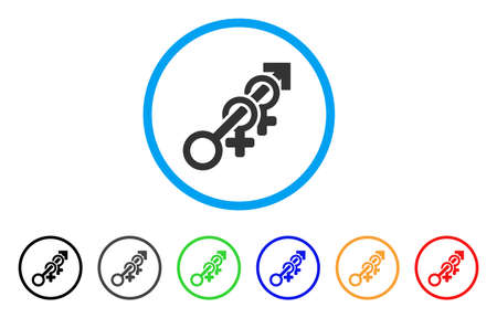 Harem rounded icon. Style is a flat harem grey symbol inside light blue circle with black, gray, green, blue, red, orange versions. Vector designed for web and software interfaces.