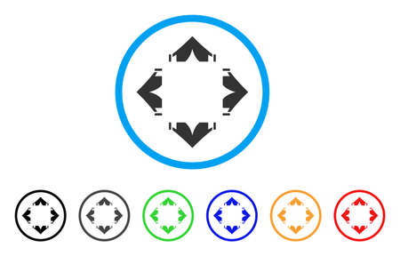 Tent Camp rounded icon. Style is a flat tent camp gray symbol inside light blue circle with black, gray, green, blue, and more.