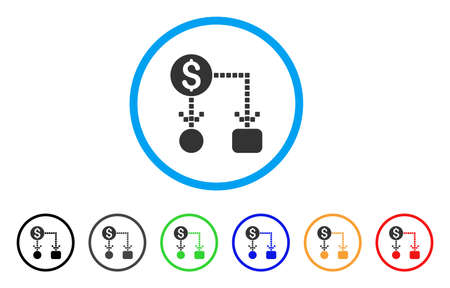 Cash flow rounded icon