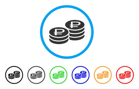 Coin Stacks rounded icon