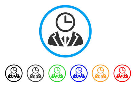 light duty: Duty Person rounded icon. Style is a flat duty person grey symbol inside light blue circle with black, gray, green, blue, red, orange variants. Vector designed for web and software interfaces.