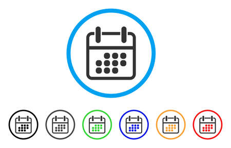 Calendar Weekend rounded icon. Style is a flat calendar weekend grey symbol inside light blue circle with black, gray, green, blue, red, orange color versions.