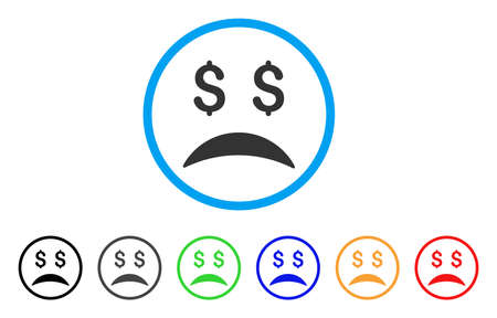 Bankrupt Sad Emotion rounded icon.