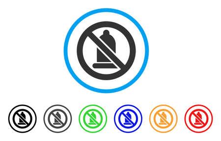 Condom Forbidden rounded icon. Illustration