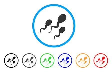 Sperm rounded icon. Illustration
